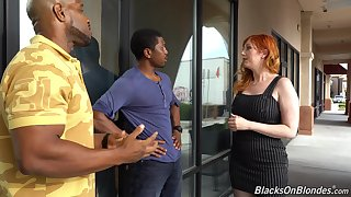 Unbowdlerized wan milf Lauren Phillips is fucked by two hot blooded black guys