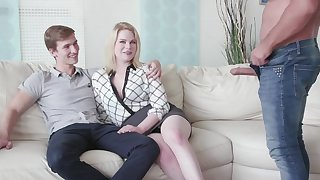 Cuckold old hat modern watches his GF Adry Berty having intercourse with a stranger
