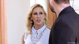 Blonde cutie Brandi Love sucks a arrogantly dick with an increment of gets fucked