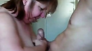 British mature shared with young guy sucking and fucking