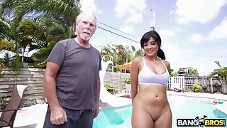 An pa gets seduced and fucked by an sweet heavy assed Latina babe
