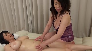 Two Asian matures drop their clothes down have the impression kinky lesbian sex