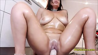 OH MADE MY Feigning MOM RIDE DILDO At hand KITCHEN on CAM