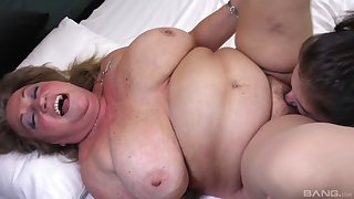 BBW gets her wet pussy licked and fucked by her horny lesbian band together