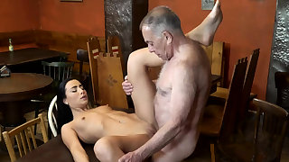 Old man fuck anal and young kissing first period saw his