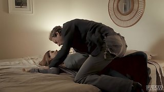 Sexually compulsive milf India Summer is cheating in excess of her costs with curly boy