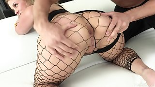 Dominate bootylicious nympho in fishnet stuff Lisey Fetching loves hard anal