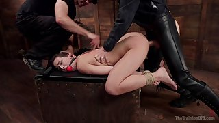 Gagged bitch fucked in merciless ways and have to go for