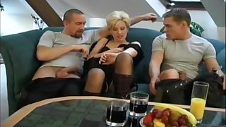 3some With Short Hair Czech MILF Expressing Love and Trouble oneself