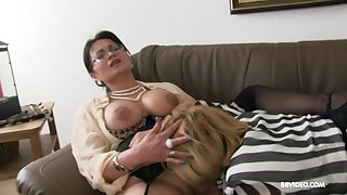 Two of age German sluts pleasure one younger stud with a BJ