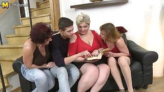 Three horny mature whore